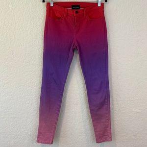 J Brand x Rob Pruitt Ombré Colored Skinny Jeans
